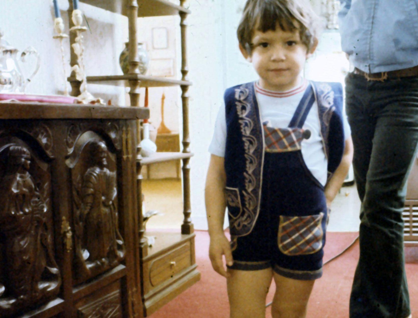4 year old Mike (1976) in Tehran, Iran